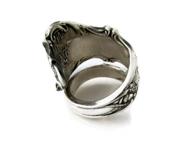 Spoon Ring Wrapped Charter Oak Size 7