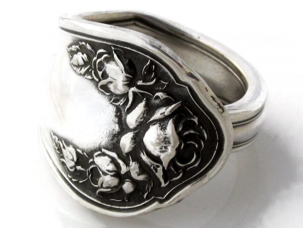 Bridal Rose Spoon ring sizes 6 to 15