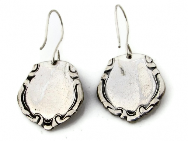 Orange Blossom Spoon Earrings Back View