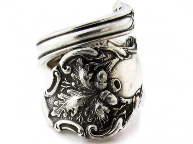 Spoon Ring Wrapped Charter Oak