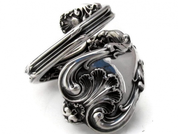 Federal Cotillion sterling silver spoon ring