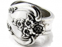 Spoon Ring Inspiration pattern Size 8 Front View
