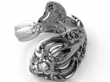 Spoon Ring Michelangelo made by Dank Artistry