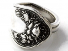 Spoon Ring Bridal Rose made by Dank Artistry