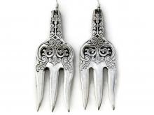Alhambra cocktail fork earrings pair