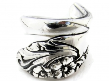 Spoon Ring Wrapped Evening Star Size 7