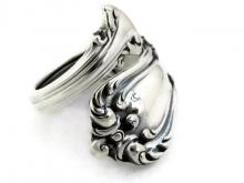 Marlborough sterling silver spoon ring demitasse