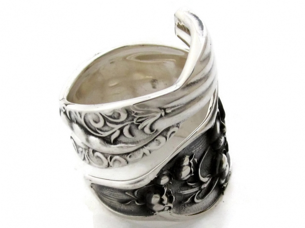 Spoon ring lily of the valley sterling