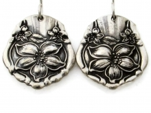 Orange Blossom Spoon Earrings Front View