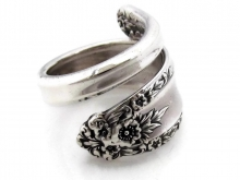 Prelude sterling silver spoon ring